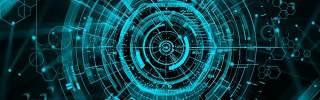 蓝色科技企业舞台会议互联网高端论坛背景PSD展板素材横版14