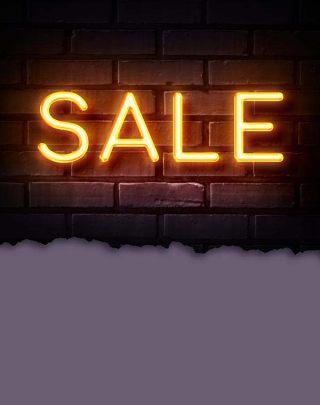 霓虹灯销售促销打折标签艺术字体效果PSD素材