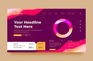 粉紫色网站UX和UI套件渐变抽象背景界面设计平面AI矢量素材SRTP Abstract Background.29