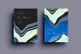 抽象背景传单平面宣传折页海报设计模板AI矢量素材SRTP Poster Design.30