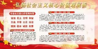 弘扬社会主义核心价值观文化墙宣传栏设计PSD展板素材