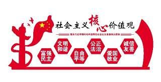 社会主义核心价值观走廊社区党建文化墙宣传栏PSD展板