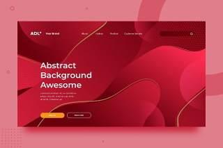 红色渐变抽象背景平面WEB网页PSD矢量界面素材SRTP Abstract Background.v2.15