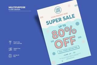 传单宣传页设计促销单页AI矢量素材Flyer Design Vol.05