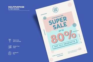 传单宣传页设计促销单页AI矢量素材Flyer Design Vol.04