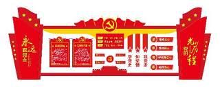 党的光辉历程党建文化墙宣传栏PSD设计素材展板