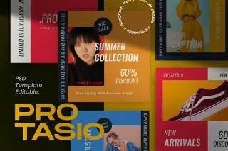 时尚社交媒体营销模板PSD移动界面设计素材Protasio Fashion Instagram Social Media Pack 1