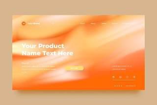 橙色网站UX和UI套件渐变抽象背景界面设计平面AI矢量素材SRTP Abstract Background.24
