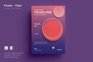 渐变色创意图形抽象海报模板封面设计AI矢量背景素材ADL-Poster Design.02