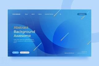 蓝色渐变抽象背景平面PSD海报矢量素材ISC Abstract Background v2.1