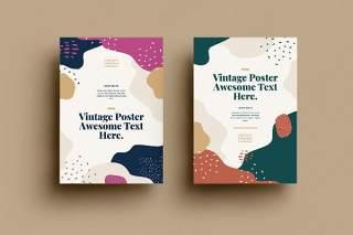 抽象背景传单平面宣传折页海报设计模板AI矢量素材SRTP Poster Design.35