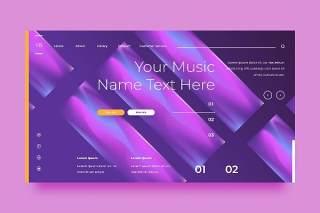 紫色网站UX和UI套件渐变抽象背景界面设计平面AI矢量素材SRTP Abstract Background.26