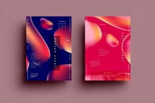 抽象背景传单平面宣传折页海报设计模板AI矢量素材SRTP Poster Design.28