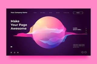 紫色网站UX和UI套件抽象背景界面设计平面AI矢量素材SRTP Abstract Background.10