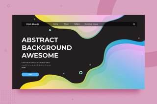 渐变流体抽象背景平面WEB网页PSD矢量界面素材SRTP Abstract Background.v2.9