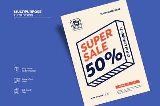 传单宣传页设计促销单页AI矢量素材Flyer Design Vol.02