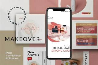 社交媒体模板PSD界面设计素材Makeover Pack 2 - Social Media Template Instagram