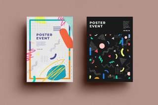 抽象背景传单平面宣传折页海报设计模板AI矢量素材SRTP Poster Design.31