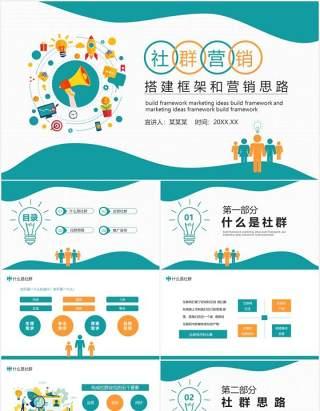 社群营销搭建框架和营销思路动态PPT模板