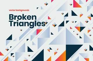 抽象三角形背景AI矢量素材Abstract Triangle Shapes Backgrounds