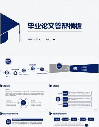 2020大学生毕业论文答辩模板PPT模板