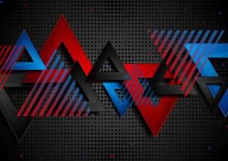 抽象概念三角形技术几何背景EPS矢量设计素材abstract concept triangles tech geometry backdrop