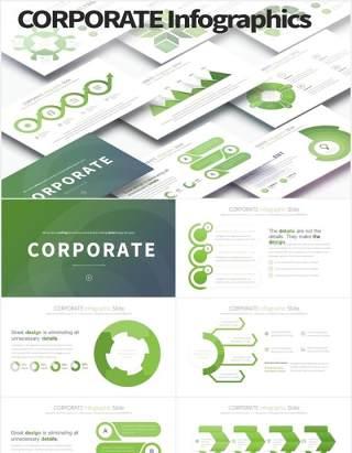 11套公司宣传报告用可视化图表PPT素材CORPORATE - PowerPoint Infographics