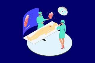 医疗医学医院医生人体人物AR和VR虚拟现实场景2.5D插画AI矢量设计素材11