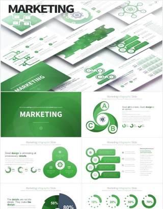 11套色系市场营销创意信息图表PPT素材Marketing - PowerPoint Infographics