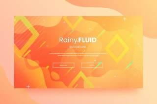 橙色登陆网站页面抽象背景AI网页UI界面平面设计素材Abstract Background