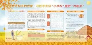 珍惜粮食制止餐饮浪费光盘行动宣传栏海报展板12