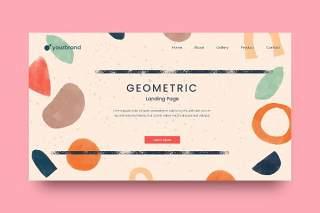 彩色登陆网站页面抽象图形背景AI网页UI界面平面设计素材Abstract Background