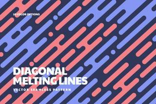对角线韵律无缝图案中的熔线AI矢量素材背景Melting Lines in Diagonal Rhythm Seamless Patterns