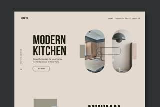 家居装饰网站UI界面设计PSD模板home decor website