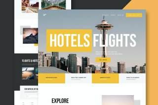 旅行社网站UI界面PSD设计模板travel agency website