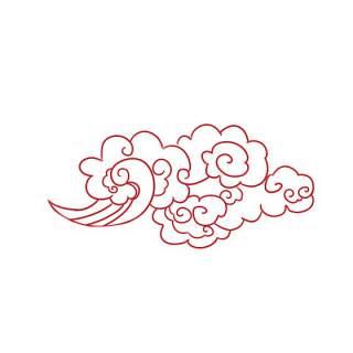 古典古风祥云云纹图案边框花边元素PNG免抠元素设计素材124