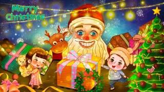 手绘插画圣诞节圣诞老人圣诞树雪人主题活动PSD设计素材14