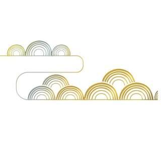 古典古风祥云云纹图案边框花边元素PNG免抠元素设计素材26