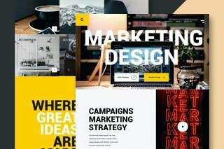营销设计网站UI界面PSD设计模板marketing design website