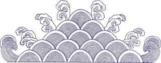 古典古风祥云云纹图案边框花边元素PNG免抠元素设计素材80