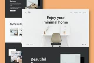 家庭家具网站UI界面PSD设计模板home furniture website