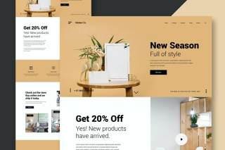 家庭家具网站UI界面设计PSD模板home furniture website