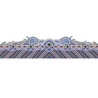古典古风祥云云纹图案边框花边元素PNG免抠元素设计素材90