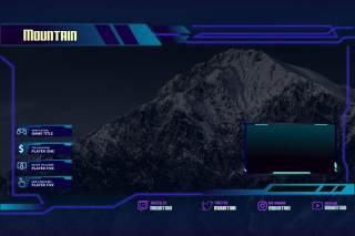 山间抽搐叠加UI界面PSD设计模板mountain twitch overlay template
