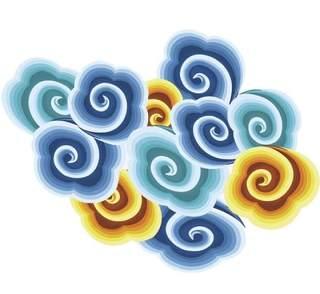 古典古风祥云云纹图案边框花边元素PNG免抠元素设计素材94