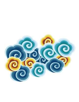 古典古风祥云云纹图案边框花边元素PNG免抠元素设计素材11