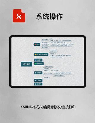 思维导图简洁系统操作XMind模板