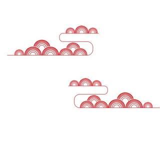 古典古风祥云云纹图案边框花边元素PNG免抠元素设计素材102