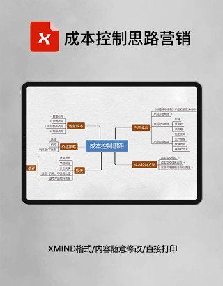 成本控制思路营销思维导图XMind模板
