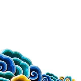 古典古风祥云云纹图案边框花边元素PNG免抠元素设计素材87